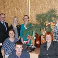 Kalėdinio žaisliuko konkursas Vilniaus r. Vievio gimnazijoje