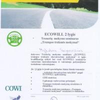 Vairavimo instruktorių kvalifikacijos pažymėjimai